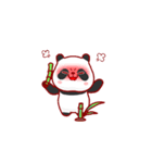 """かわいいパンダ """"PUPU""""。(個別スタンプ:02)"""