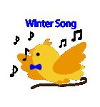 幸せを呼ぶ鳥の冬生活(個別スタンプ:08)