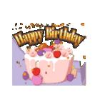 """動いて楽しい誕生日""""HAPPY BIRTHDAY""""(個別スタンプ:02)"""