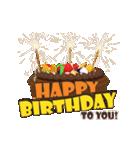 """動いて楽しい誕生日""""HAPPY BIRTHDAY""""(個別スタンプ:03)"""