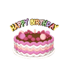 """動いて楽しい誕生日""""HAPPY BIRTHDAY""""(個別スタンプ:04)"""
