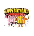 """動いて楽しい誕生日""""HAPPY BIRTHDAY""""(個別スタンプ:06)"""