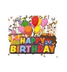 """動いて楽しい誕生日""""HAPPY BIRTHDAY""""(個別スタンプ:10)"""