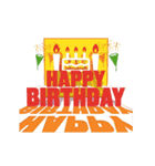"""動いて楽しい誕生日""""HAPPY BIRTHDAY""""(個別スタンプ:11)"""