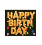 """動いて楽しい誕生日""""HAPPY BIRTHDAY""""(個別スタンプ:14)"""