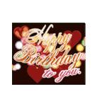 """動いて楽しい誕生日""""HAPPY BIRTHDAY""""(個別スタンプ:19)"""