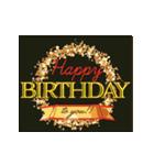 """動いて楽しい誕生日""""HAPPY BIRTHDAY""""(個別スタンプ:20)"""