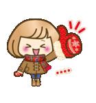 お正月♡自由に名前♪おかっぱ女子の年賀状(個別スタンプ:21)