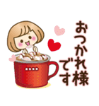 お正月♡自由に名前♪おかっぱ女子の年賀状(個別スタンプ:27)