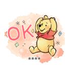くまのプーさん カスタムスタンプ(水彩)(個別スタンプ:01)