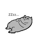 灰色猫さん(個別スタンプ:18)