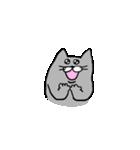 灰色猫さん(個別スタンプ:33)