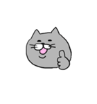 灰色猫さん(個別スタンプ:34)
