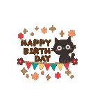 動く!黒ねこの大人かわいい誕生日&お祝い(個別スタンプ:13)