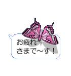スマホの上の虹色蝶《Movie 04》(個別スタンプ:11)
