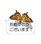 スマホの上の虹色蝶《Movie 04》(個別スタンプ:21)