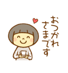 マッシュルームヘアちゃん(個別スタンプ:18)