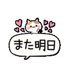 でか文字とふきだしと三毛にゃん(個別スタンプ:05)
