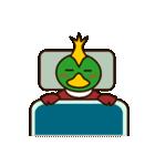 モヒカン鴨インザワールド(個別スタンプ:24)