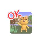 水車小屋の猫【動く3D】(個別スタンプ:3)