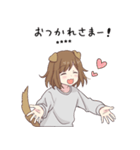 犬系女子。2.5(カスタム)(個別スタンプ:04)