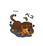 気軽にダックス(チョコタン)【カスタム】(個別スタンプ:12)