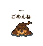 気軽にダックス(チョコタン)【カスタム】(個別スタンプ:36)