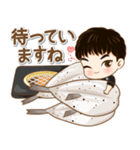 かわいい若い小西 セット2 (食べ物)(個別スタンプ:21)