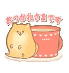 むっちりポメラニアン☆オレンジ☆カスタム(個別スタンプ:01)