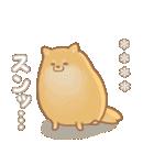 むっちりポメラニアン☆オレンジ☆カスタム(個別スタンプ:24)