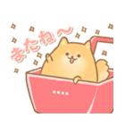 むっちりポメラニアン☆オレンジ☆カスタム(個別スタンプ:25)