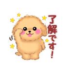 かわいい♥トイプードル(個別スタンプ:02)