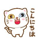 マニ白猫は2色の目をしています(個別スタンプ:2)