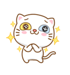 マニ白猫は2色の目をしています(個別スタンプ:13)