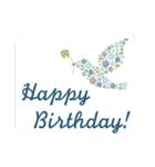 ほのぼの、大人かわいい お誕生日スタンプ(個別スタンプ:33)
