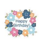 ほのぼの、大人かわいい お誕生日スタンプ(個別スタンプ:35)