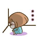 おかっぱ女子【元気なデカ文字×あいさつ】(個別スタンプ:34)