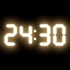 光るデジタル時計(30分)