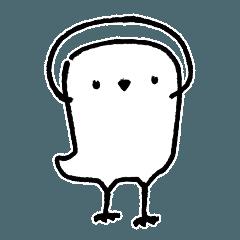 白いフクロウのスタンプ