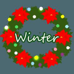 冬遊びスタンプ