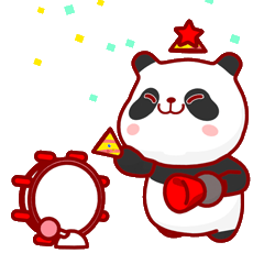 """[LINEスタンプ] かわいいパンダ """"PUPU""""。 (1)"""