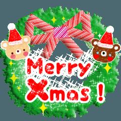 楽しいクリスマス&年末スタンプ