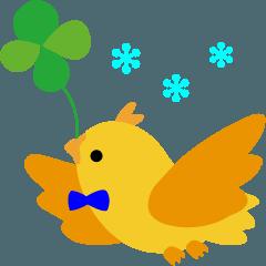 幸せを呼ぶ鳥の冬生活