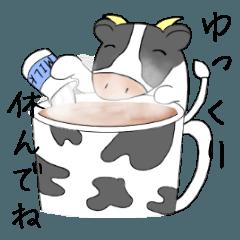 かわいい牛さんの冬休み