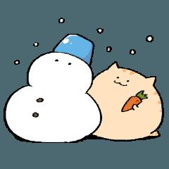 にわねこ冬