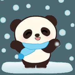 動く!子パンダちゃんの冬スタンプ♡