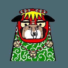 シュールな柴犬の年末年始