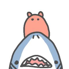 サメとメンダコ(いつもの感じ)