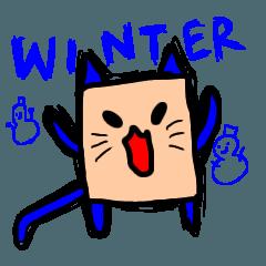 シカクのゆる猫 冬