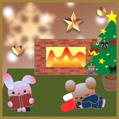 うさぎとくまの日々(クリスマス3)
